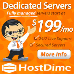 dedicated web hosting by HostDime